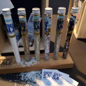 Ostseesalzmanufaktur Salz im Reagenzglas