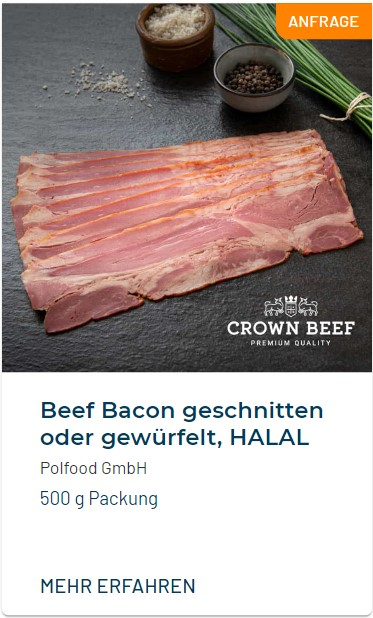 Trendfood Beef Bacon