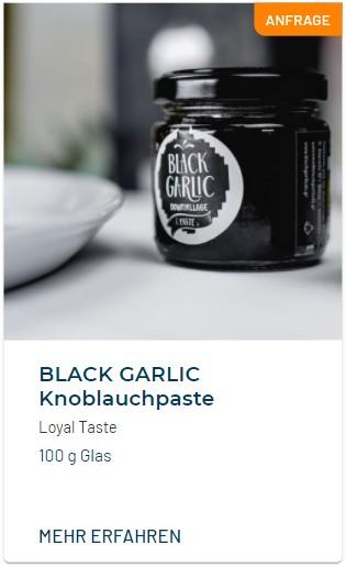 Black Garlic Schwarzer Knoblauch Paste
