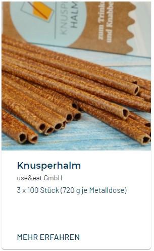 Knusperhalm essbarer Strohhalm Use & Eat