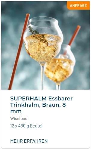 SUPERHALM Essbarer Strohhalm - Wisefood