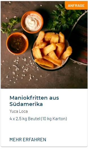 Yuca Loca Maniok-Fritten