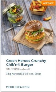 Green Heroes Crunchy Chikn Veganer Burger
