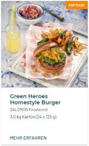 Green Heroes Homestyle Burger Vegan