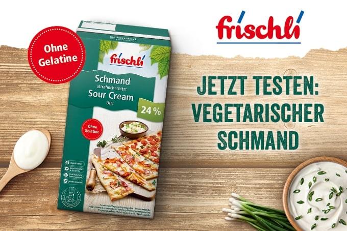 frischli vegetarischer Schmand Testaktion
