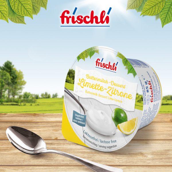 frischli Buttermilch-Dessert Limette-Zitrone
