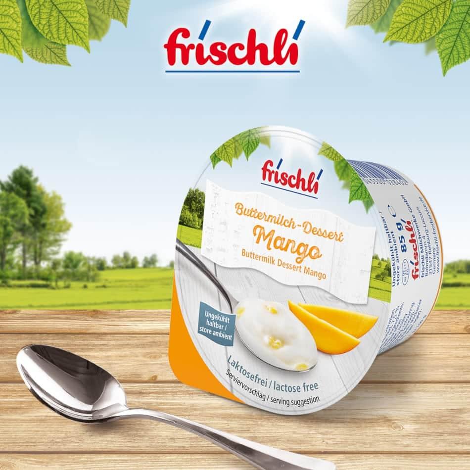 frischli Buttermilch-Dessert Mango
