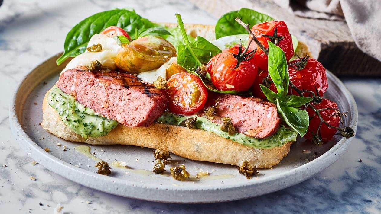 Raw NoBeef Burger Italian Style