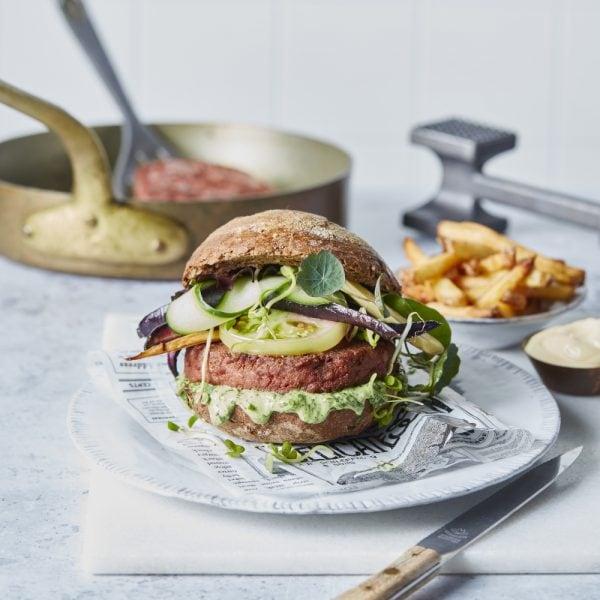 Raw NoBeef Burger- The Vegetarian Butcher